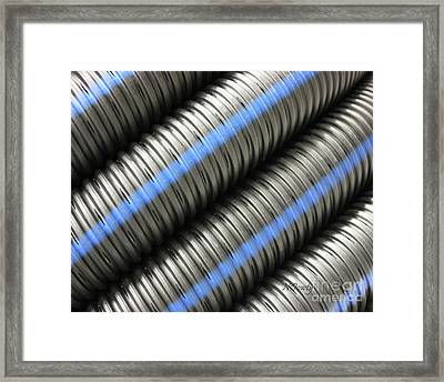 Corrugated Drain Pipe Framed Print