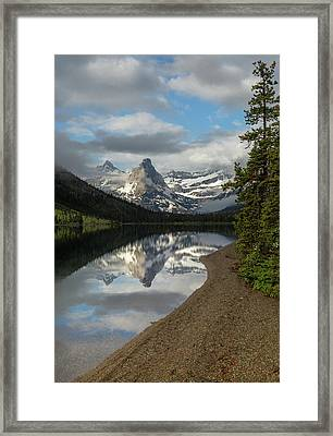 Cosley Lake // Glacier National Park  Framed Print