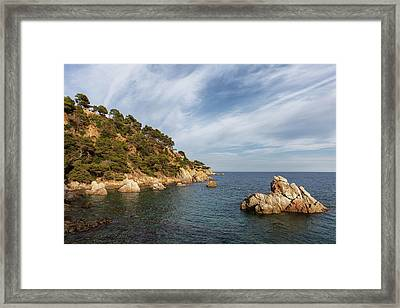 Costa Brava Coastline In Spain Framed Print by Artur Bogacki