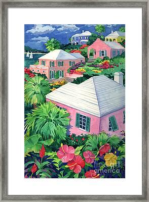 Cottage Terrace Framed Print