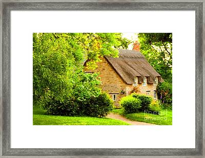 Country Cottage. Framed Print by ShabbyChic fine art Photography