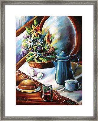 Country Living Framed Print by Khatuna Buzzell