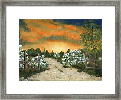 Country Road Framed Print by Anastasiya Malakhova