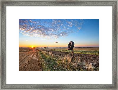 Country Roads Framed Print by Jill Van Doren Rolo