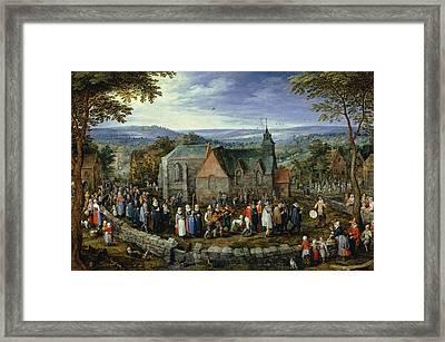 Country Wedding Framed Print by Jan Brueghel the Elder