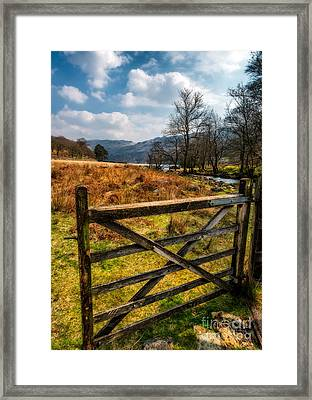 Countryside Gate Framed Print by Adrian Evans