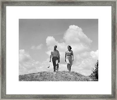 Couple Out Golfing, C.1930s Framed Print by H. Armstrong Roberts/ClassicStock
