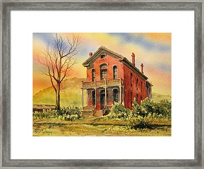 Courthouse Bannack Ghost Town Montana Framed Print by Kevin Heaney