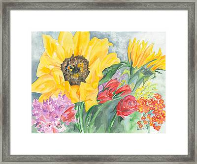 Courtney's Sunflower Framed Print by Kimberly Lavelle