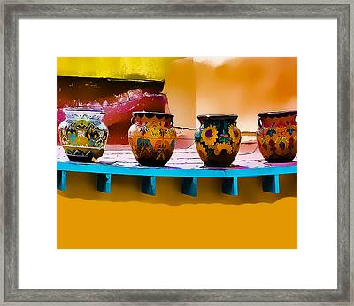 Courtyards Of Taos Framed Print