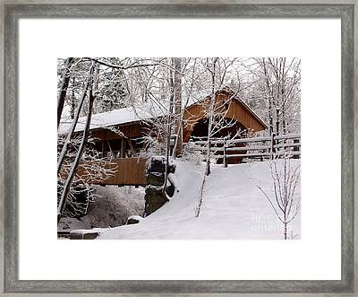 Covered Bridge At Olmsted Falls - 2 Framed Print