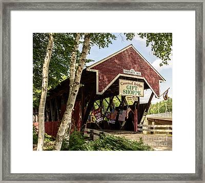 Covered Bridge Gift Shoppe Framed Print