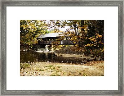 Covered Bridge Framed Print by Rockstar Artworks