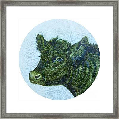 Cow I Framed Print by Desiree Warren