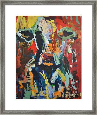 Framed Print featuring the painting Cow Painting by Robert Joyner