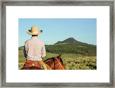Cowboy Back Framed Print