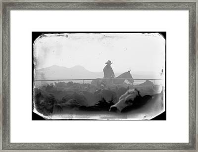 Cowboy Dawn Framed Print by Todd Klassy