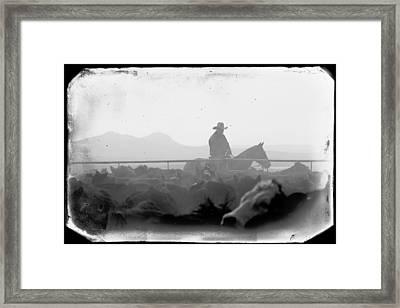 Cowboy Dawn Framed Print
