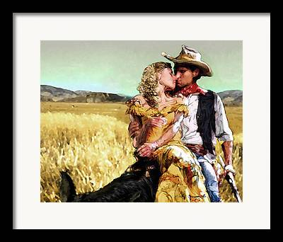 Western Digital Art Framed Prints