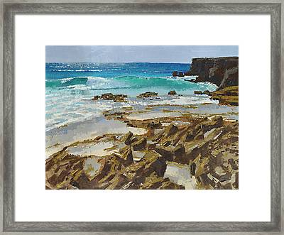 Cozumel East In The Morning Framed Print