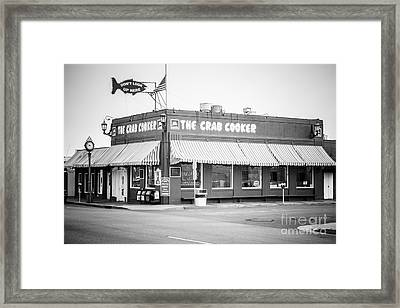 Crab Cooker Newport Beach Black And White Photo Framed Print