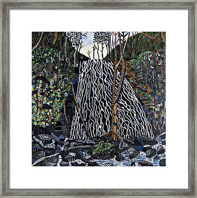 Crabtree Falls Framed Print by Micah Mullen
