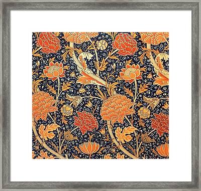 Cray Pattern Framed Print