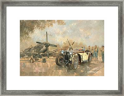 Cream Cracker Mg 4 Spitfires  Framed Print by Peter Miller