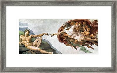Creation Of Adam Framed Print