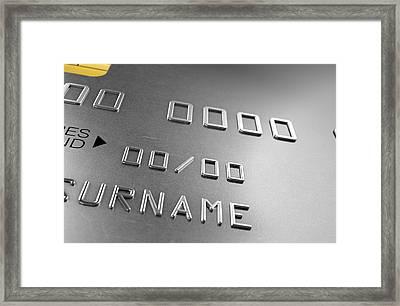 Credit Card Closeup Framed Print
