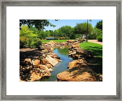 Creek Framed Print by Diana Moya