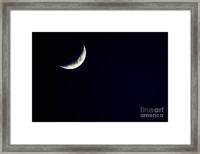 Crescent Moon  Framed Print by Thomas R Fletcher