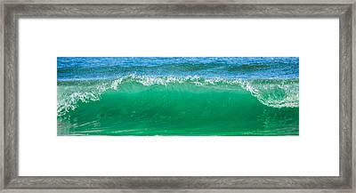 Cresting Wave Framed Print by Paula Porterfield-Izzo