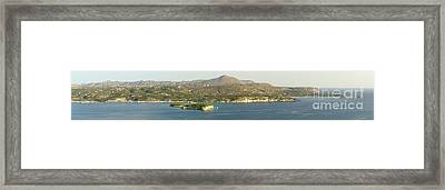 Crete Panoramic Framed Print by HD Connelly