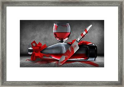 Crime Scene Framed Print by FL collection
