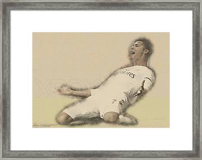 Cristiano Ronaldo Reacts Framed Print