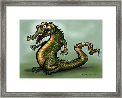 Crocodile Framed Print by Kevin Middleton