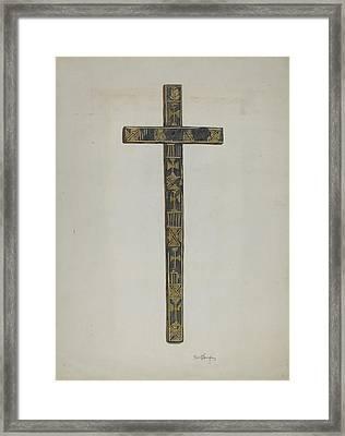 Cross Framed Print by Carl O'bergh
