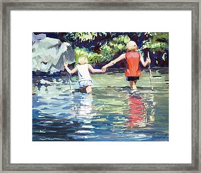 Crossing Framed Print by Bob Duncan