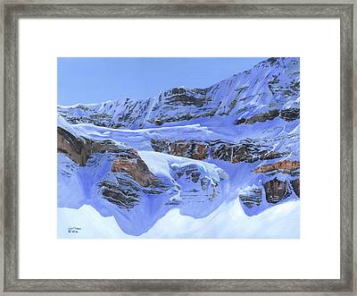 Crowfoot Glacier Framed Print by Glen Frear