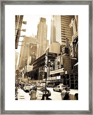 Crown Plaza New York City Framed Print