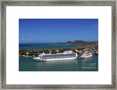 Framed Print featuring the photograph Cruise Port by Gary Wonning