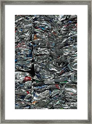 Crushed Cans Framed Print
