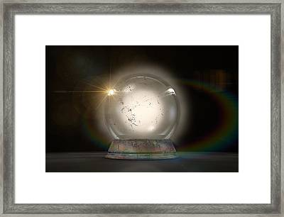 Crystal Ball Glowing Framed Print