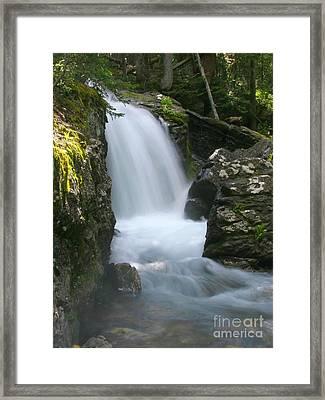 Crystal Cascade Framed Print by Crystal Garner