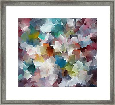 Framed Print featuring the painting Crystal Cube by Kathy Sheeran