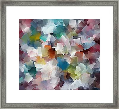 Crystal Cube Framed Print by Kathy Sheeran
