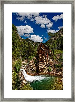 Crystal Mill Framed Print by Mountain Dreams
