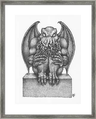 Cthulhu Idol Framed Print