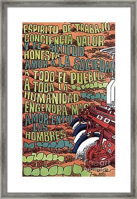 Cuban Poster, 1960s Framed Print by Granger